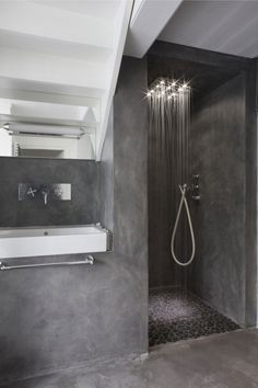 Maison V by Olivier Chabaud Architect 12 Bathroom, ideas, bath, house, home, indoor, design, decoration, decor, water, shower, storage, rest, diy, room, creative, mirror, towel, shelf, furniture, closet, bathtub, apartments, toilet, loundry, window.