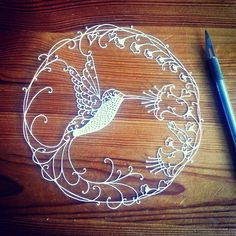 Hey, I found this really awesome Etsy listing at https://www.etsy.com/listing/207831698/paper-cutting-template-hummingbird