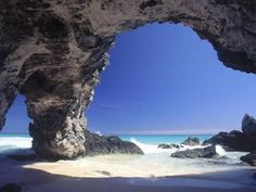 Photographic Print: Natural Arches, Tuckers Town, Bermuda Poster by Robin Hill : 24x18in
