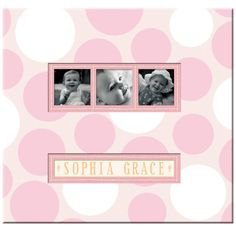 Save all those memories of your little girl in this beautiful scrapbook. The three-frame ph...