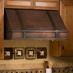 "36"" Limoges Series Copper Wall-Mount Range Hood - Kitchen"
