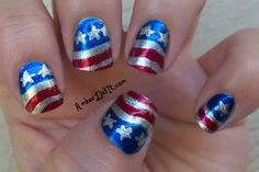 cute 4th of july nails (:
