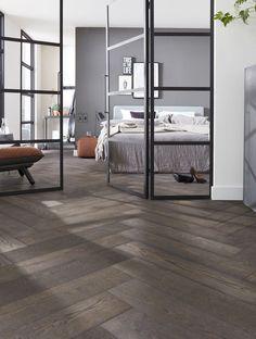 Wooden Floors Living Room, Wooden Flooring, Tile Patterns, Interior Inspiration, Tile Floor, New Homes, Relax, Interior Design, Bedroom