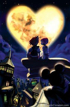 Estamos juntos, Eterno presente, Luna de Amor... #haiku #poesía # inspiración #kingdom #hearts #MBMH