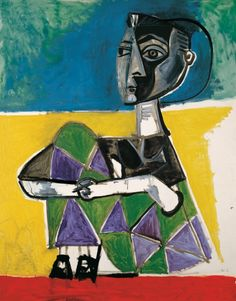 Jacqueline sentada. París, 8 octubre 1954 Óleo sobre lienzo 146 x 114 cm Museo Picasso Málaga Donación de Christine Ruiz-Picasso  (MPM1.9)