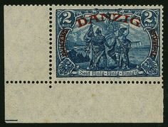 Danzig 2 Mk. Big indoor service, farbfrisch and very well serrated, faultlessly Postfr., from left lower corner margin (Only in margin of sheet Two small Stockpnktchen), photo-certificate Erdwien BPP. Mi. 3000, - .  Dealer Gert Müller Auctions  Auction Minimum Bid: 900.00EUR Rare Stamps, Danzig, Picture Postcards, Postage Stamps, Poland, Germany, Stamps, Ignition Coil, Deutsch