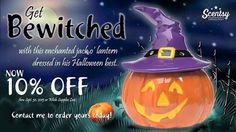10% off til the end of September and while supplies last! #Halloween #jackolantern #Scentsy
