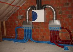 Heat Recovery Ventilation, Ventilation System, Whole House Ventilation, Home Spa Room, Hvac Design, Hvac Filters, Home Cooler, Hydronic Heating, Heating And Plumbing