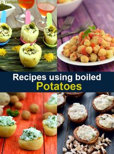 92 boiled potato recipes | Boiled Potato Recipe Collection | Page 1 of 7 | Tarladalal.com Aloo Recipes, Veg Recipes, Indian Food Recipes, Vegetarian Recipes, Cooking Recipes, Vegetarian Lunch, Recipies, Potato Recipes In Hindi, How To Cook Potatoes