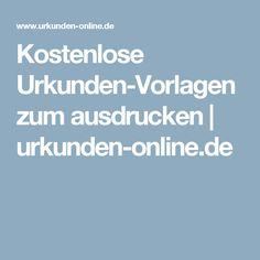 Kostenlose Urkunden-Vorlagen zum ausdrucken | urkunden-online.de