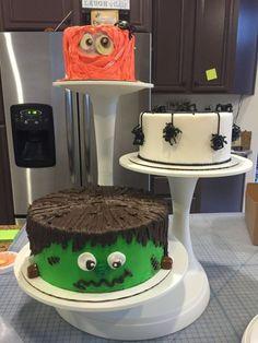 Halloween Display of Cakes
