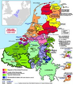 Map of the Low Countries 1556-1648