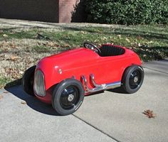 McPherson College 1932 Ford racer pedal car built by students.