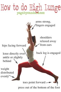 How to do High Lunge