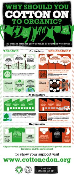 Cottoned On Infographic - organic cotton is super important