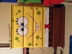 Spongebob dresser. Bought unfinished. Had a friend paint it for me.
