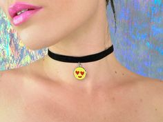 Designer Clothes, Shoes & Bags for Women Black Choker, Black Necklace, Ribbon Choker, Ribbon Necklace, Cute Choker Necklaces, Gothic Chokers, Goth Jewelry, Chanel, Etsy