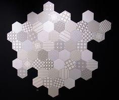 Hexagon tiles.