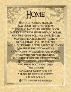 This beautiful home blessing parchment serves as a wonderful blessing for your home. Place within your book of shadows or frame it to hang on your wall or to gi