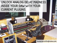 Unlock analog delay madness inside your DAW with your current plugins. http://homerecordinghome.com/creating-your-own-funky-delays/