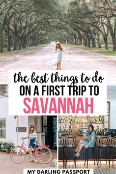 The Best Things to do on First Trip to Savannah. This travel guide outlines an itinerary of must-dos for first timer's in Savannah. Read on for the best hotels, restaurants and things to do in Savannah! savannah itinerary | savannah georgia itinerary | Savannah travel guide | Visiting savannah georgia | Savannah georgia vacation | What to do in savannah georgia | Top things to do in savannah georgia |