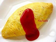 """Simple rice omelet"" - japanese recipe/よくあるオムライス/オムライス"