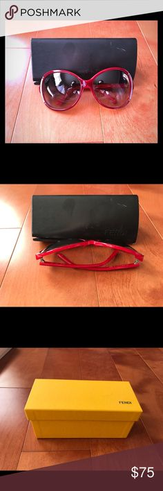 Fendi Sunglasses These red Fendi sunglasses are pre-owned, in good condition, clean and ideal for any face shape. Fendi Accessories Sunglasses