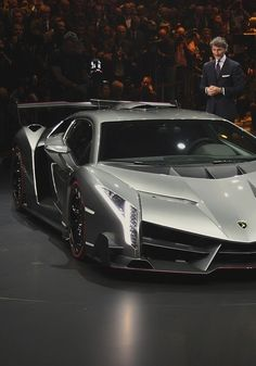 Lamborghini Veneno presented at Geneva Motor Show.