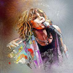 Steven Tyler Fine Art Painting by Miki De Gooda