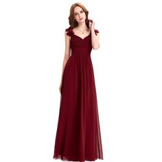 Cheap dress turkey, Buy Quality dresses dress up directly from China dress clothes for men Suppliers: Bridesmaid Dresses Long Chiffon Applique Prom Dresses Cheap Floor Length Wedding Bridesmaid Gown Formal Burgundy Dress 0079