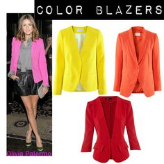 Blazers to match my colourful skinny pants