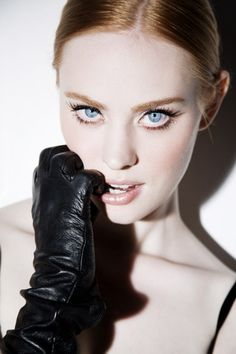 Deborah Ann Woll as Brianna. Feline blue eyes, flaming hair plus she's tall and fierce.