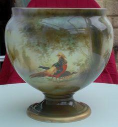 RS Prussia Vase/Jardinere with Golden Pheasant Woodland Scene