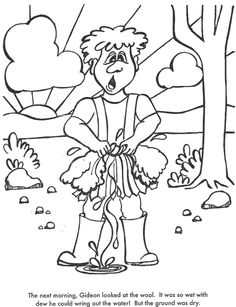 BIBLE COLORING PAGES. God Chooses Gideon