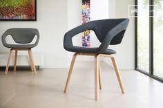 The armchair Tobago combines originality, comfort and elegance.