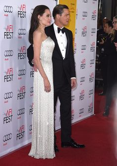 Angelina Jolie's Versace Gown Looked Tailor-Made For Her — Because It Was. #fashion #angelinajolie #versace