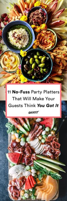 11 No-Fuss Party Platters That Will Make Guests Think You Got It Catered #greatist https://greatist.com/eat/party-platters