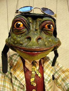 Mr. Toad Marionette from Wind in the Willows by Susan Taaffe