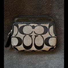 Coach Wallet Coach Park Signature Double Zipper Coin Fabric  wallet ! Preloved ! Coach Bags Wallets