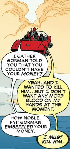 Deadpool V4 #22- all it took were 4 words to get him back to his old self