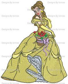 Princess Bella Machine Embroidery Designs In 2 Sizes