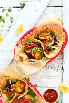 Spicy Plantain Black Bean Tacos