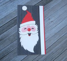 Retro Santa Claus Christmas Card with Crisp by MintysMercantile