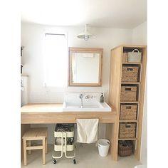 Green Desk, Natural Interior, Affordable Housing, Japanese House, Washroom, Powder Room, Interior And Exterior, New Homes, Design