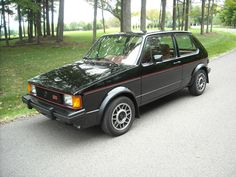 1984 Volkswagen GTI MK1. OMG I had one of these, first car I ever bought....