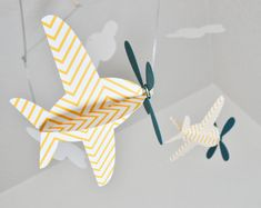 mobile... cute idea for boy baby room!
