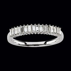 Omg this is exactly what I want to go under my ring set!!  (baguette wedding band | ... baguette diamond anniversary ring baguette diamonds measures 2 4mm )