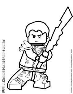 Kai Ninjago Coloring Pages For Kids Printable Free