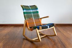 We're rocking into the weekend in style with our Amador Rocking Chair with the MotMot pattern. Living Room Accents, Accent Chairs For Living Room, Curved Wood, Colourful Living Room, Mid Century Modern Design, Danish Design, Beautiful Patterns, Modern Chairs, Rocking Chair