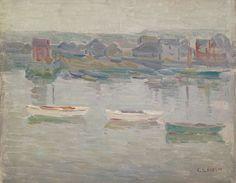 """Study of Boats,"" Charles Salis Kaelin, oil on board, 10 x 8 1/4"", Spanierman Gallery."